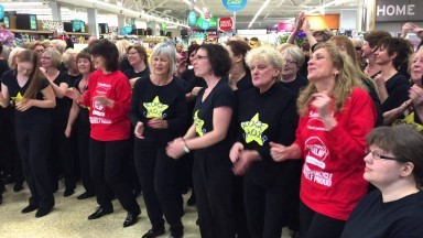 Don't Stop Me Now - Rock Choir at Sainsbury's Otford in aid of Sport Relief